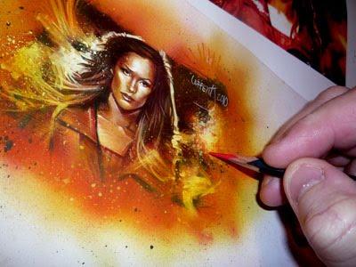 Framke Janssen, Phoenix, Original Sketch Card by Jeff Lafferty