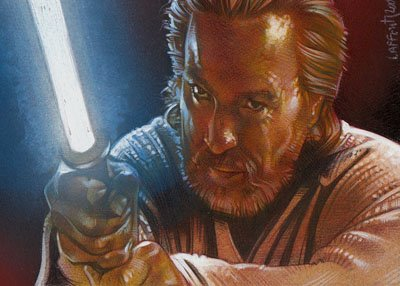 Jedi Master ACEO Sketch Card by Jeff Lafferty