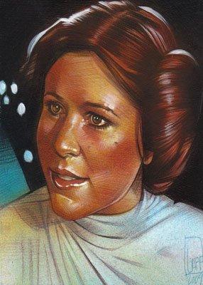 Princess Leia ACEO Sketch Card by Jeff Lafferty