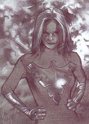 Jean Grey as Phoenix (Pencil study) ACEO Sketch Card by Jeff Lafferty