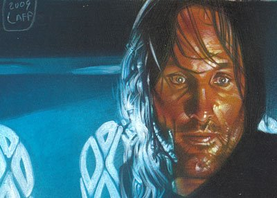Viggo Mortensen as Aragorn ACEO Sketch Card by Jeff Lafferty