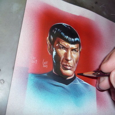 Star Trek ACEO Sketch Cards by Jeff Lafferty