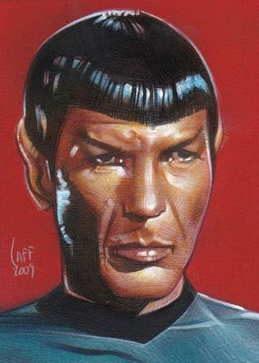 Spock ACEO Sketch Card by Jeff Lafferty