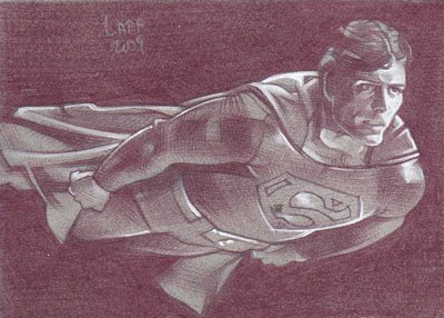 Superman (Pencil study) ACEO Sketch Card by Jeff Lafferty