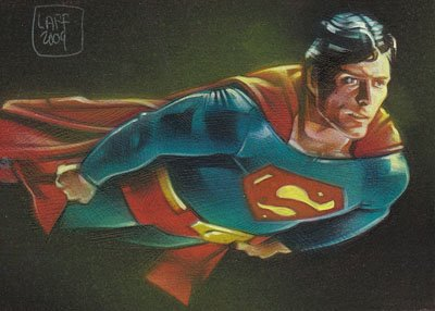 Christopher Reeves as Superman ACEO Sketch Card by Jeff Lafferty