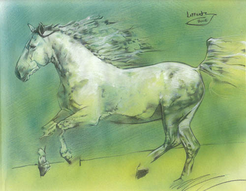 White Horse painting by Jeff Lafferty