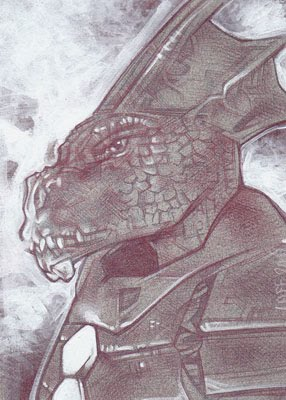 Kryllith (Pencil study) ACEO Sketch Card by Jeff Lafferty