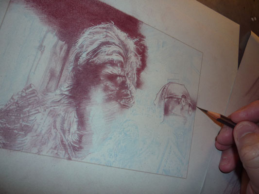 Chewbacca - Original Art by Jeff Lafferty