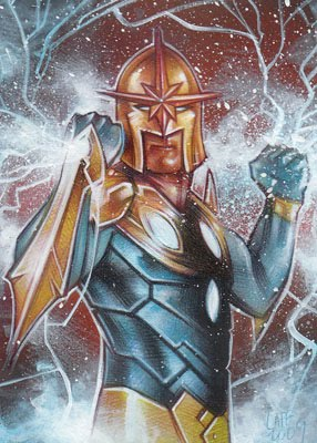 Nova ACEO Sketch Card by Jeff Lafferty