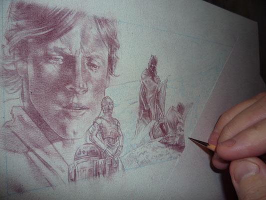 Star Wars, original art by Jeff Lafferty