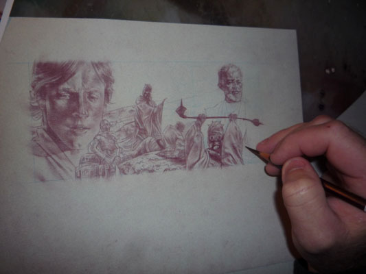 Star Wars, original art by Jeff Lafferty