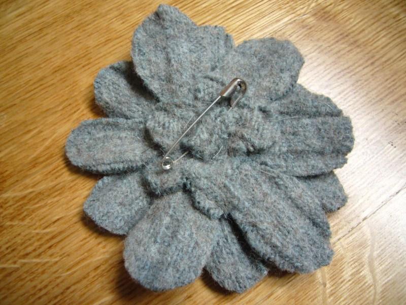 Molto Voglio Una Mela Blu: Spille di fiori di feltro fai da te per  DM14