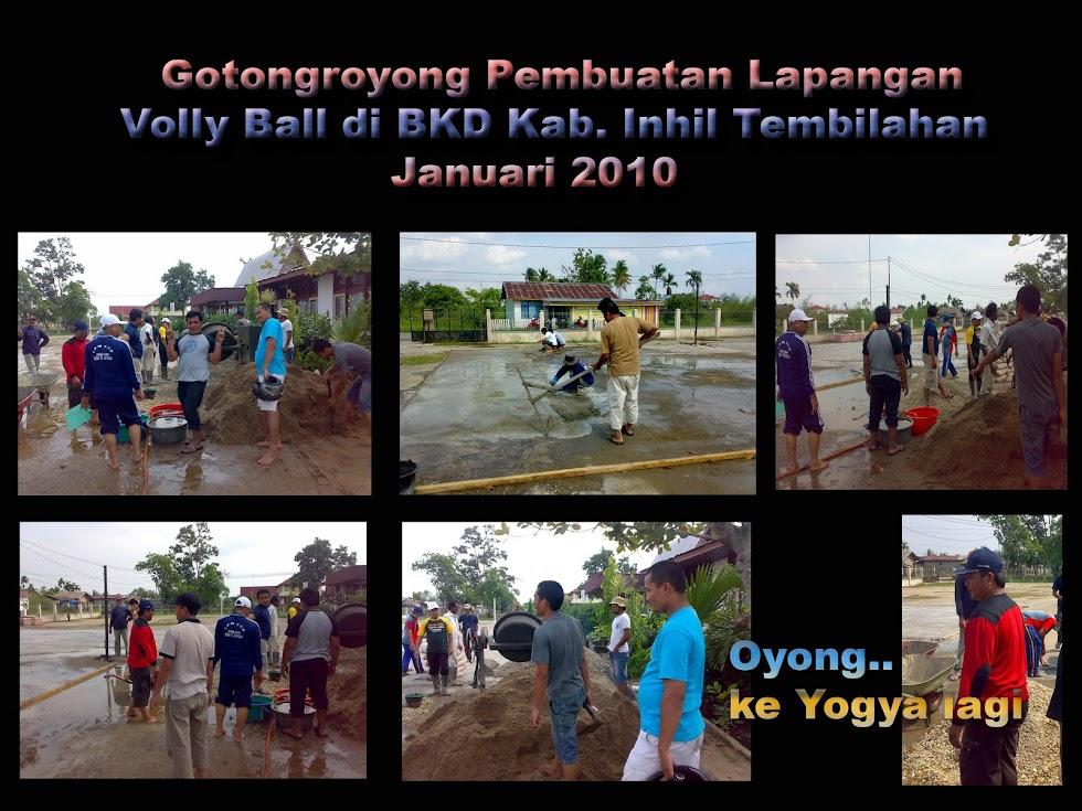 Pembuatan Lapangan Volly Ball