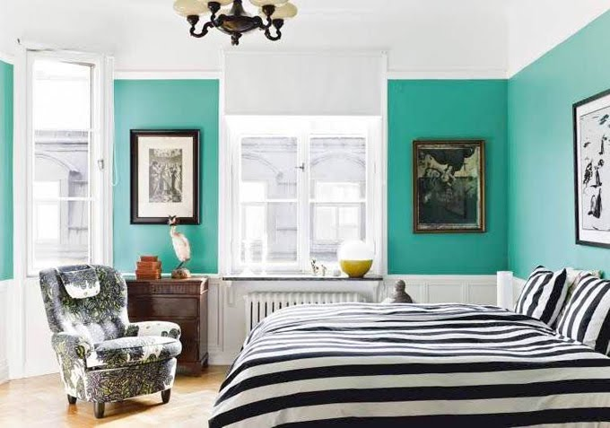 Turquesa antioquia interiorismo for Black and white and turquoise bedroom ideas