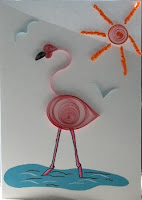 quilling quilled pink flamingo paper filigree filigrana