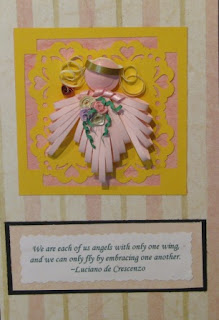 quilling quilled angel spreuer
