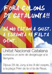¿Fuera colonos de Cataluña? De aquí a los campos de exterminio sólo hay un paso
