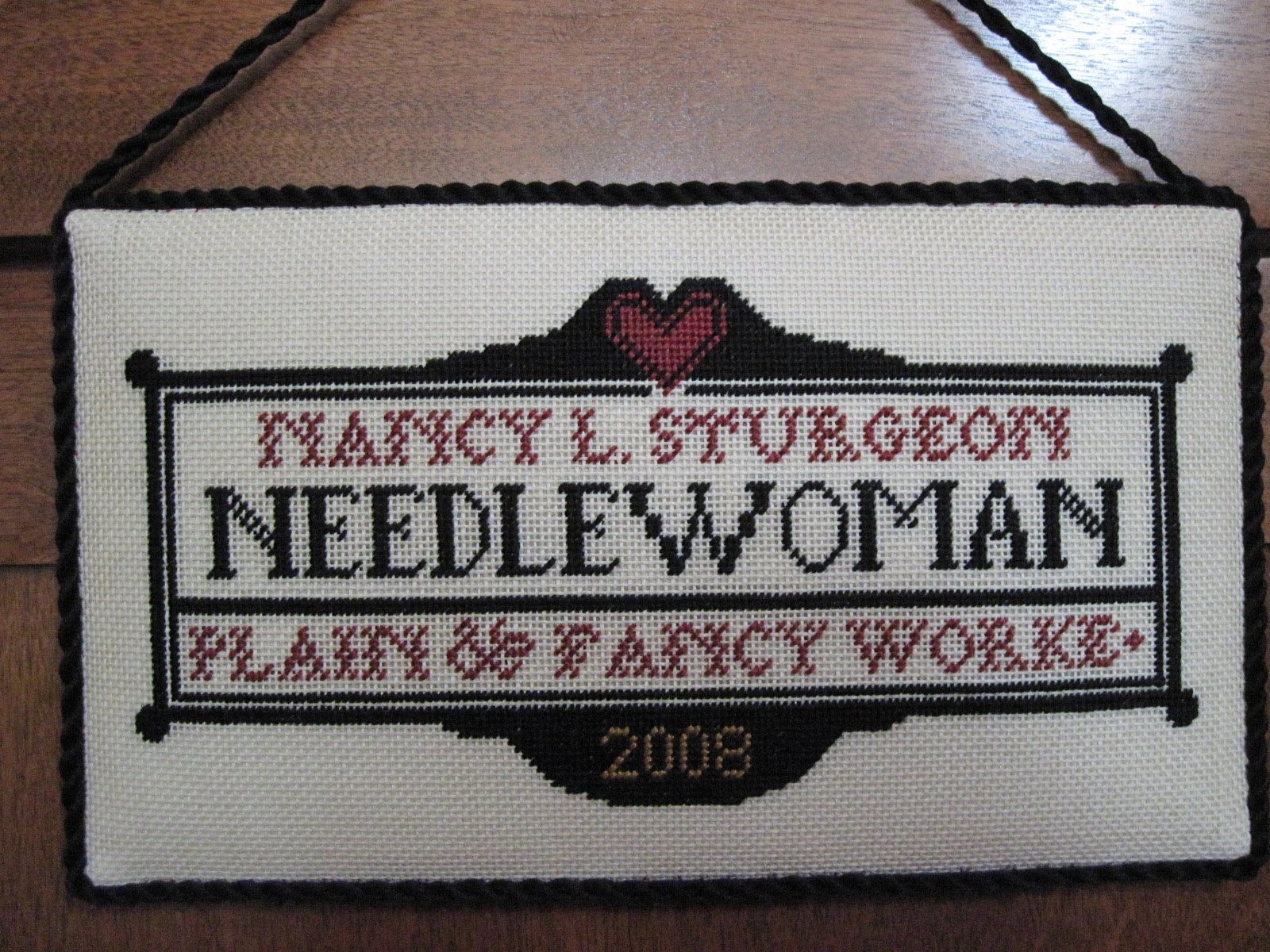 Threads through time prairie schooler santas msi sampler 1771 carriage house name plate - Name plate designs for home ...