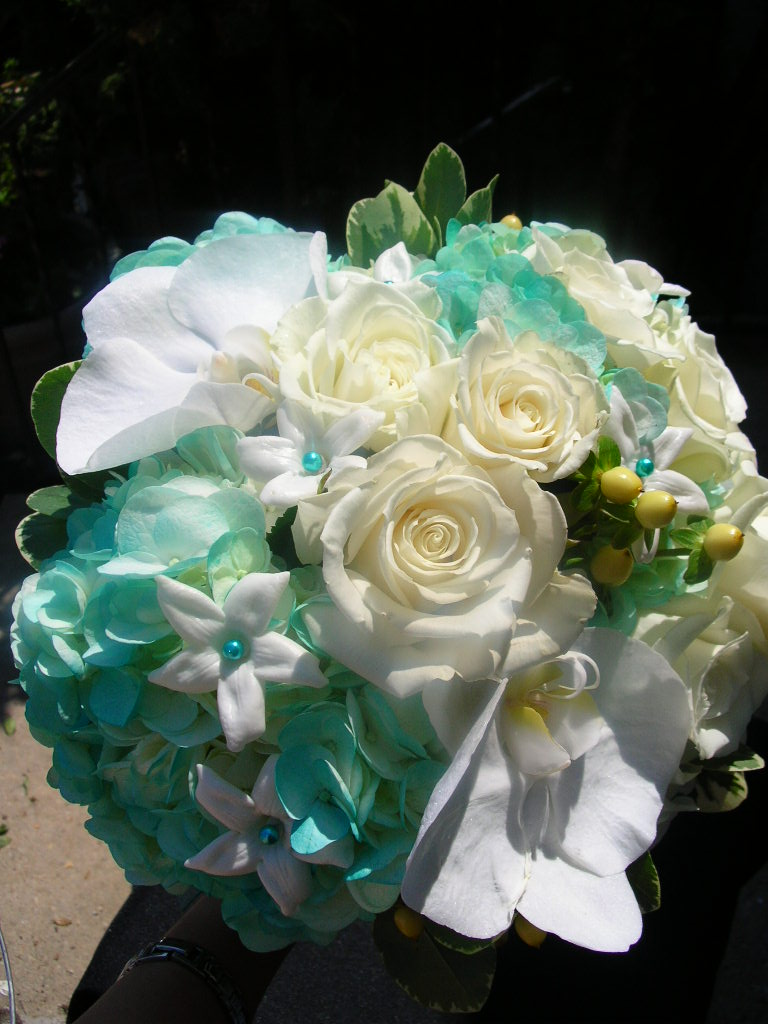 Tiffany Blue Bouquet for Glenview Mansion