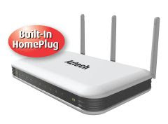 200Mbps HomePlug AV 4-Port Wireless Draft-N Router