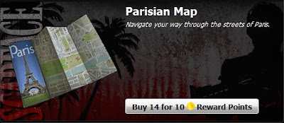 Buy 14 Parisian Maps from MarketPlace for 10 Rewards Points