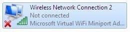 Microsoft Virtual Wi-Fi. Windows 7 RC. Broadcom 802.11g Wireless Network Adapter