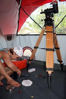 Sarah's observing tent