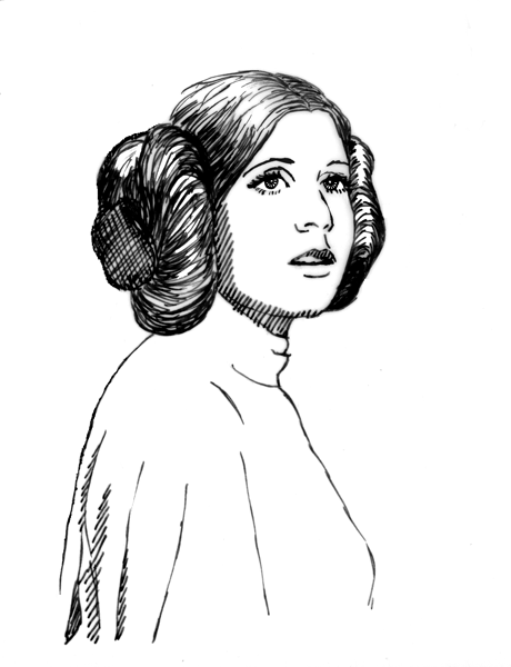 Lost Arts Star Wars Revisited Princess Leia Colouring Pages