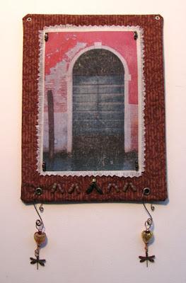 Mixed media artist venice door art quilt for Front door quilt pattern