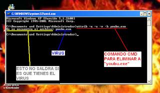 comando cmd para eliminar el virus youbu.exe
