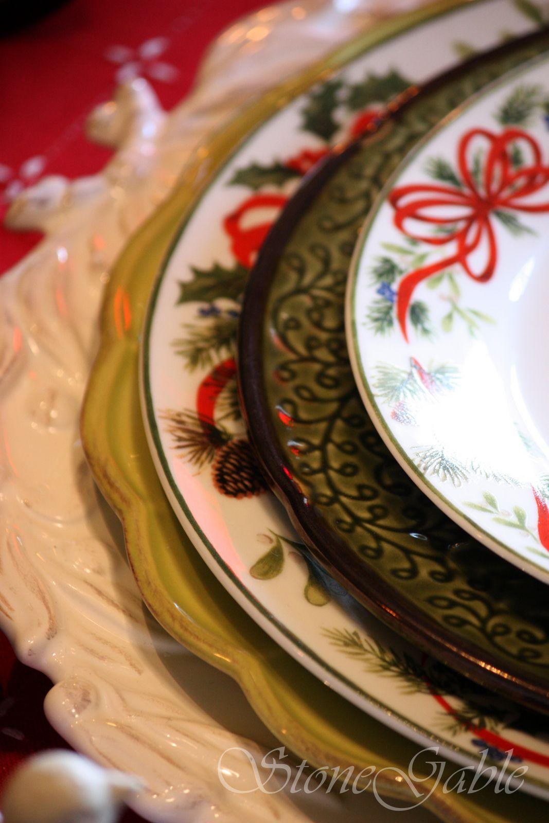 Christmas Brunch Tablescape Stonegable