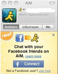 AIM chat con Facebok