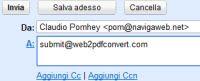 navigare internet via E-mail