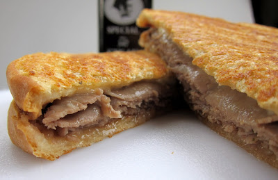 Edgar's Bakery President's Choice Panini - roast beef, mozzarella & steak sauce