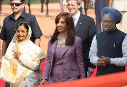 Cristina en visita oficial a India