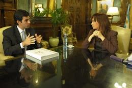 Cristina recibió al gobernador de Salta