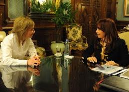 Cristina y la gobernadora de Tierra Del Fuego