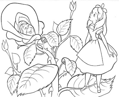 alice in wonderland coloring page - Alice Wonderland Coloring Pages