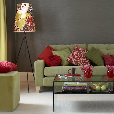 Site Blogspot  Living Room Ottomans on And Accessories Provide Colourful Accents In This Living Room