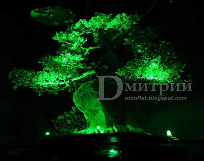 Бисерные деревья схемы, деревья из бисера.