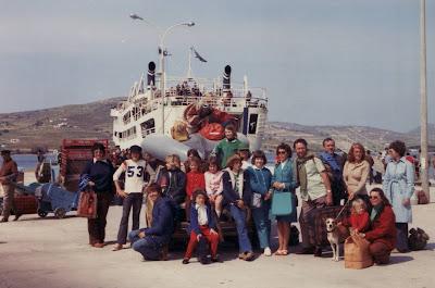Paros ferry dock