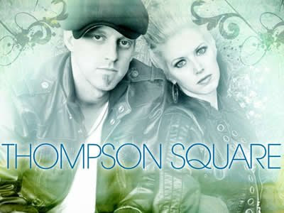 "Thompson Square, whose popular single ""Are You Gonna Kiss Me Or Not"" is"