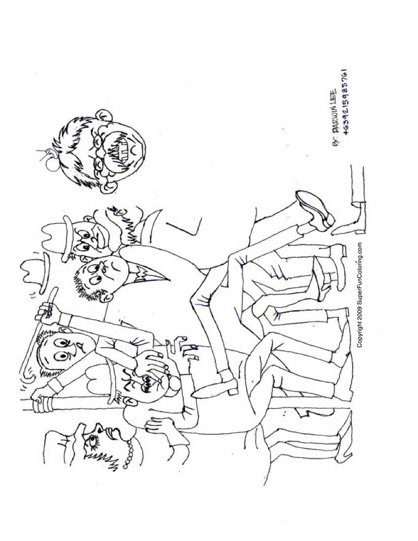 Coloring pages of careers - Cartoon Coloring Page For Children