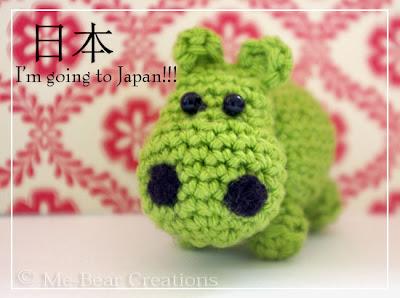 amigurumi, hippo, happy hippo, green, crochet, softie, mini, gehaakt, haken, nijlpaard, homemade, diy, zelfgemaakt