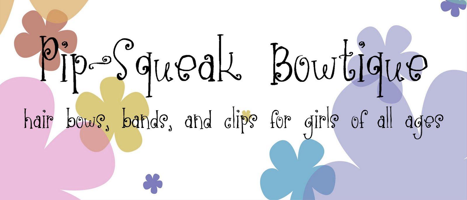 Pip-Squeak Bowtique Baby Bows