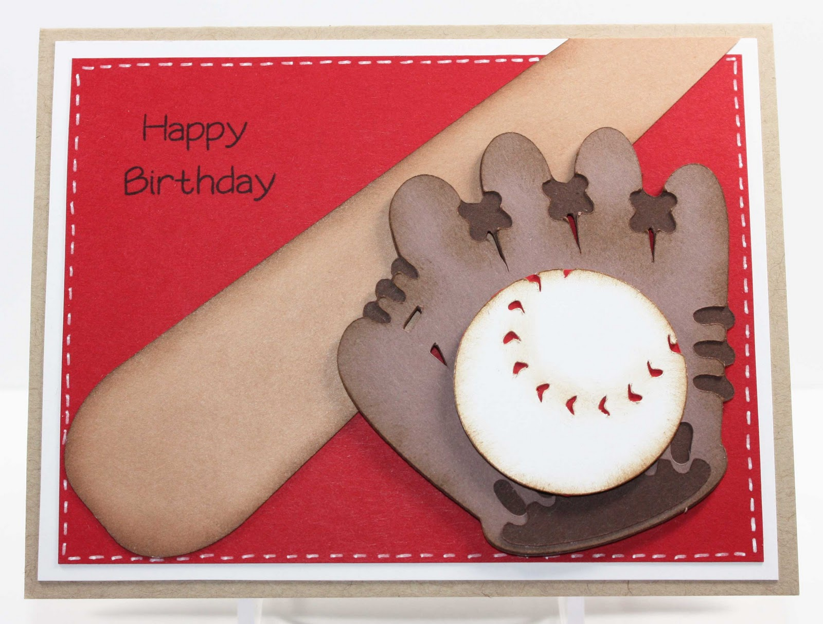 Simply Pam Episode 37 Baseball Birthday Card