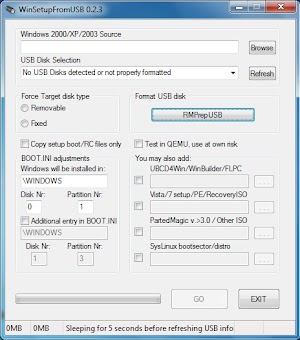 Install XP From USB