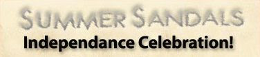 Summer Sandals Independence Day Special!