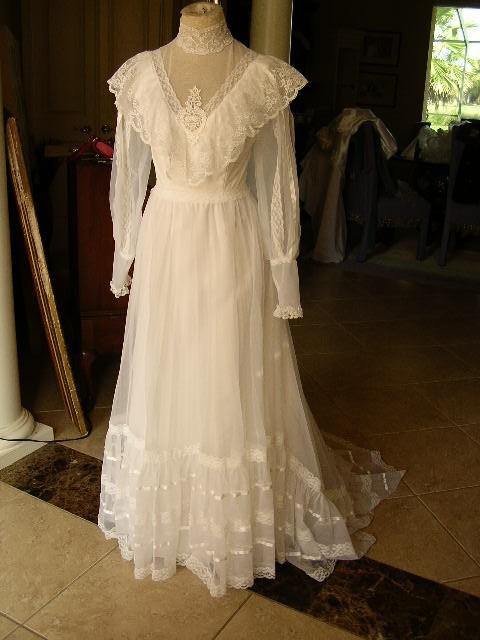 Artitudes my victorian vintage wedding dress was featured for Cinched waist wedding dress