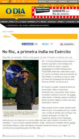 1ª Mulher Indígena Oficial das Forças Armadas do Brasil